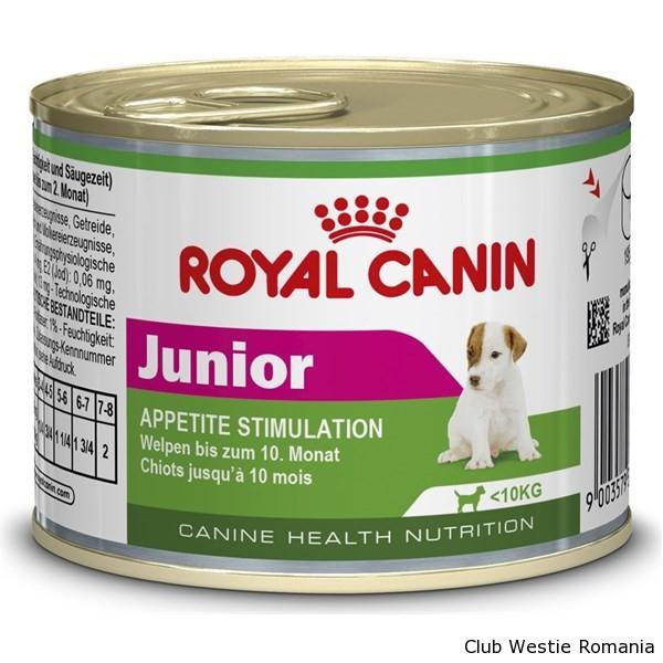 Hrana pentru Caini Royal Canin Mini Junior, 195g