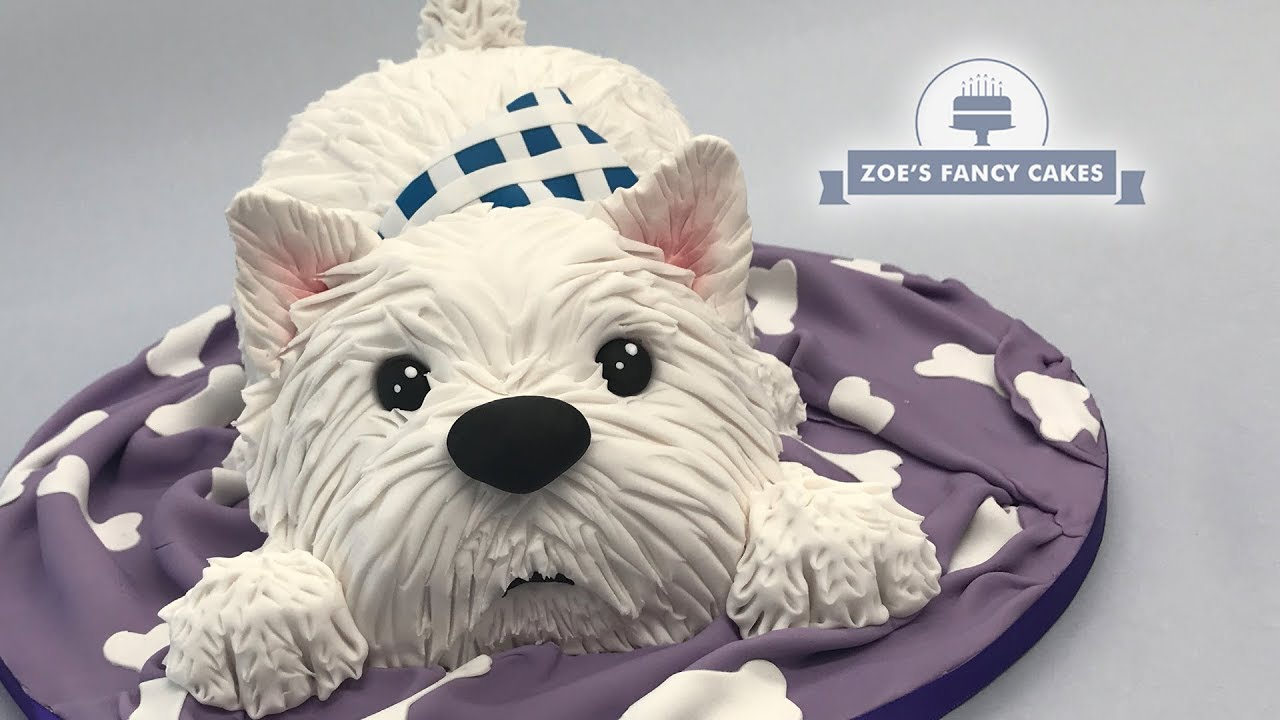 Westie Dog Cake Tutorial West Highland Terrier, great birthday cake idea